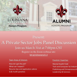 Information on Private Sector Job panel discussion.